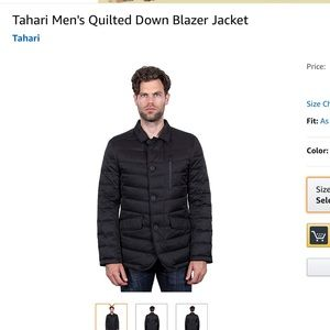 Tahari Quilted Down Jacket